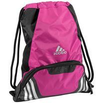 adidas Team Speed II Sackpack, Intense Pink, 19 x 14.75 x 2-