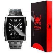 Pebble Steel Smartwatch Screen Protector, Skinomi TechSkin