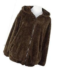 Leegoal Women Teddy Bear Ear Coat Hoodie Hooded Outerwear,