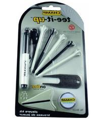 Tee-it-Up Golf Fly Tees Marker Divot Tool Black Marker Pack