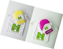 Munch Mitt Baby Teethers - Purple and Yellow - Set of 2