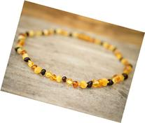 Baltic Amber Teething Bracelet or Anklet, color - Multicolor
