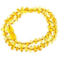 Certified Baltic Amber Teething Necklace for Baby - Natural