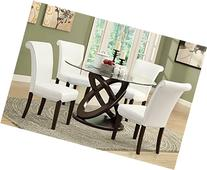 Monarch Specialties I 1749 Tempered Glass Dining Table 48""