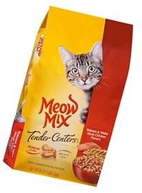 Meow Mix 29274-51252 3 Lb Salmon & Chicken Tender Centers