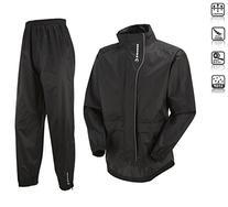 Tenn Unisex Active Cycling Jacket & Trouser Set - Black -