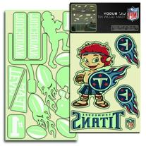 Tennessee Titans NFL Lil Buddy Glow In The Dark Decal Kit