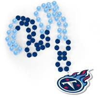 Tennessee Titans NFL Mardi Gras Beads with Medallion Rico