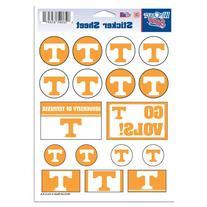 "NCAA University of Tennessee Vinyl Sticker Sheet, 5"" x 7"