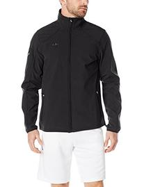 Fila Tennis Men's Bulls Eye Bonded Jacket, Black/Black/Black