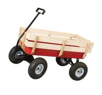 All Terrain Steel and Wood Pull Cart Wagon For Kids w/ Extra