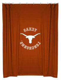 NCAA Texas Longhorns College Bathroom Accent Shower Curtain