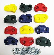 Textured Rock Holds Multi Color Set of 12 W/hardware Rock