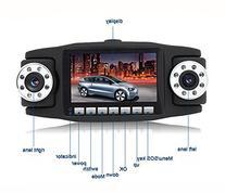 """BOOMYOURS 2.7"""" TFT 270°Rotating Dual Camera Lens HD Car DVR"""
