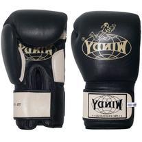 Windy Thai Training Gloves, Black, 16-Ounce
