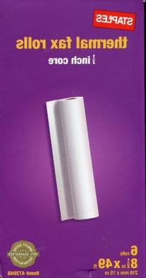 Thermal Fax Rolls 1/2-inch Core 49 ft High Sensitivity Paper