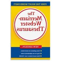 """Thesaurus, Paperback, 688 Pages 5-3/4""""""""x8-1/2"""""""", Yellow,"""