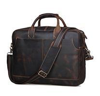 Polare Men's Sturdy Genuine Leather 16'' Laptop Bag