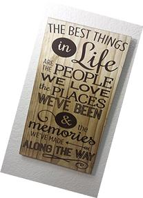 """11x20"""" The Best Things in Life Stained Wood Sign Home Décor"""