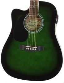 Full Size Thinline Green Acoustic Electric Guitar with Free
