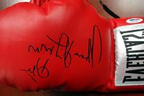 """THOMAS """"HITMAN"""" HEARNS AUTOGRAPHED RED EVERLAST BOXING GLOVE"""