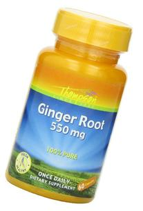 Thompson Ginger Root Capsules, 550 Mg, 60 Count