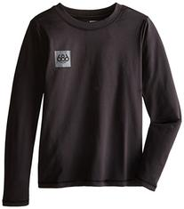 686 Boy's Thrill First Layer Shirt, X-Small, Black