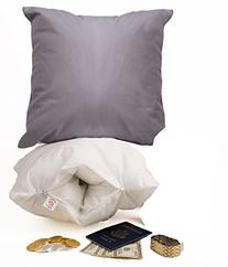 Throw Pillow Safe. Secret Compartment Inside. Be Protected