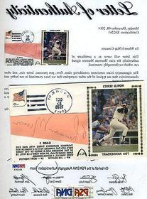 Thurman Munson Psa/dna Signed 1978 Fdc Cut Authenticated