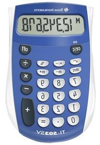 Texas Instruments Ti-503Sv Pocket Calculator, 8-Digit Lcd,