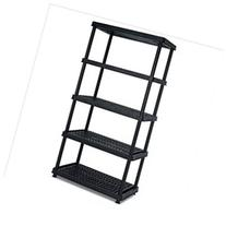 36 x 24 x 72 5 Tier Resin Shelf Weather-Resistant