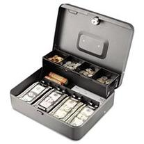 -- Tiered Cash Box with Bill Weights, 12 in, Cam Key Lock,