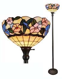 Amora Lighting Tiffany-style AM023FL14 Hummingbirds Floral