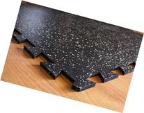 IncStores Tight-Lock Rubber Gym Tiles -  Gym Mats Ideal For