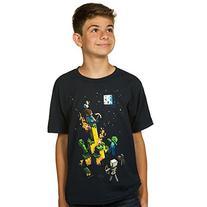 Minecraft Boys Tight Spot Youth Tee, Navy, X-Large