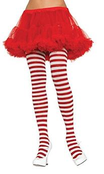 Tights Striped Red White