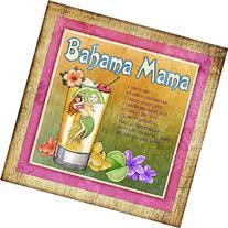 Tiki Bar Drink Recipe Bahama Mama Art Print