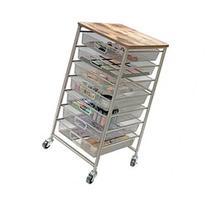 Tim Holtz Signature Design Industrial 7-Drawer Storage Cart-