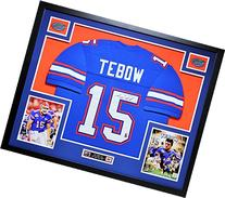 Tim Tebow Autographed and Framed Blue Gators Jersey PBA COA