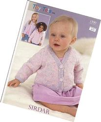 Sirdar Tiny Tots DK Knitting Pattern 1500 Cardigans NB-6yrs