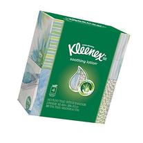 Kleenex Tissue with Lotion, 4 Cube Boxes