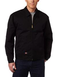 Dickies TJ15BKXL Black Lined Eisenhower Jacket - Extra Large