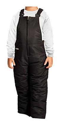 Arctix Toddler Chest High Snow Bib Overalls, 4T, Black