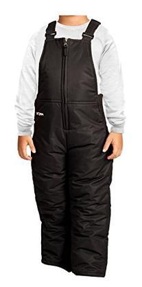 Arctix Toddler Chest High Snow Bib Overalls, 3T, Black