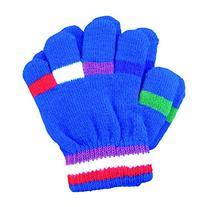 A&R Sports Toddler Handgards Gloves, Royal Stripes