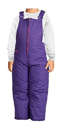 Arctix Toddler Chest High Snow Bib Overalls, 2T, Purple