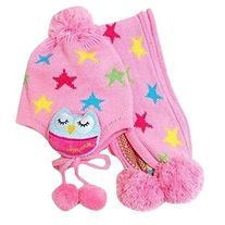 Infant Toddler Kids Girls Warm Neck Warmer Star Hat Scarf