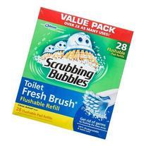 Scrubbing Bubbles Toilet Fresh Brush Flushable Refills,