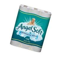 ANGEL SOFT TOILET PAPER BATH TISSUE 24 REGULAR ROLLS