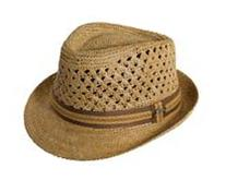 Tommy Bahama Tbw116Os-Tea1 1/Vent Crochet Raffia Fedora Hat